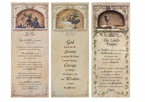 wallsthatspeak Our Father, Serenity Prayer, The Lord is my shepherd - Three 8x20 Christian Art Prints Matthew 6:9-13 Psalm 23 Jesus Posters