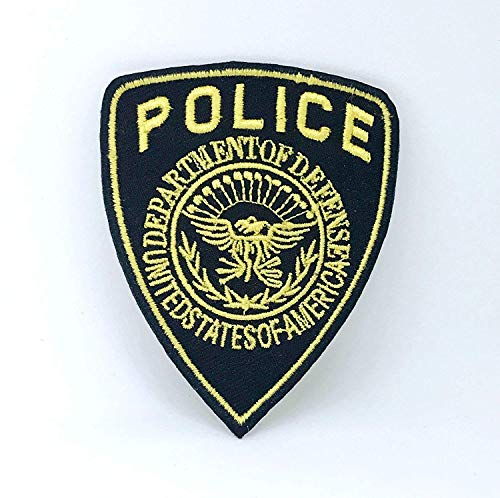 Police Department of Defence Badge Iron on Sew on Embroidered Patch (6.8cm x -