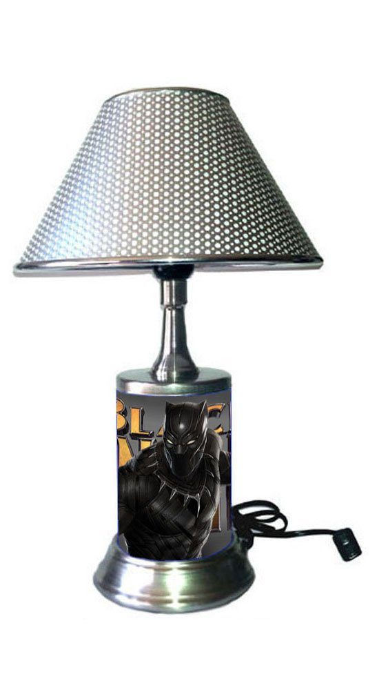 JS Black Panther Lamp with chrome shade, Marvel, Movie