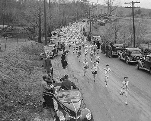 An 8 x 10 Photo Framed Happier Times At The Boston Marathon 1939