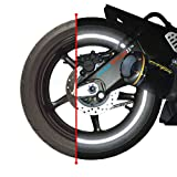 """customTAYLOR33 (All Vehicles) Black Engineering Grade Reflective Copyrighted Safety Rim Tapes (Must select your rim size), 17"""" (Rim Size for Most Sportbikes)"""