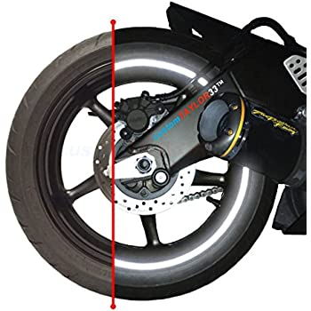 "customTAYLOR33 (All Vehicles) Black Engineering Grade Reflective Copyrighted Safety Rim Tapes (Must select your rim size), 17"" (Rim Size for Most SportsBikes)"