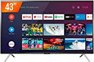 Smart TV LED 43'' Full HD Semp 43S5300, 2 HDMI 1 USB, Wi-Fi, Google Assistant, Controle Remoto Com Com