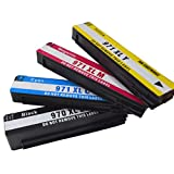 Tyjtyrjty Compatible 4PK Ink Cartridges For HP 970XL 971XL HP Pro X476dn X476dw X576dw With Chip