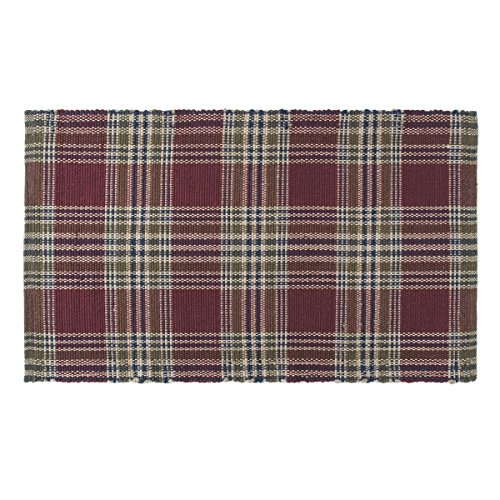 (VHC Brands 18135 Rustic & Lodge Flooring - Jackson Red Wool & Cotton Rug, 2'3