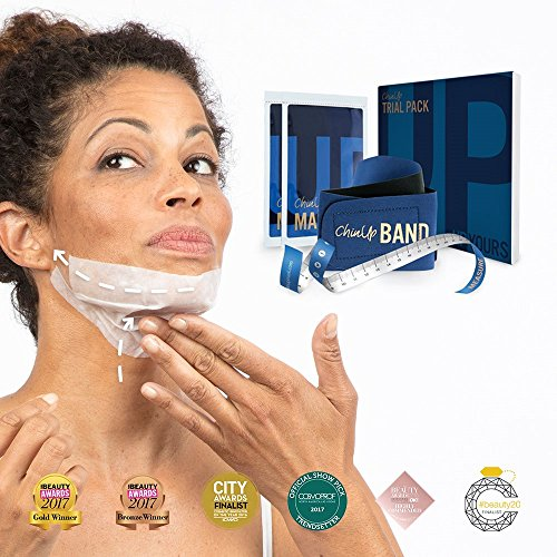 EW+IMPROVED - Non-Surgical Face Lift Mask Kit from UpYours - Best New Facemask 2017 - for Skin Firming, Tightening, Anti Wrinkle & Lifting. Helps Remove Double Chin, Sagging Jowls and Turkey Neck …