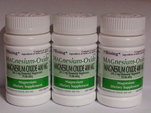 Cheap MAGnesium Oxide 400 mg Dietary Supplement Tablets – 120 Tablets by Mag-Ox 400,3 pack