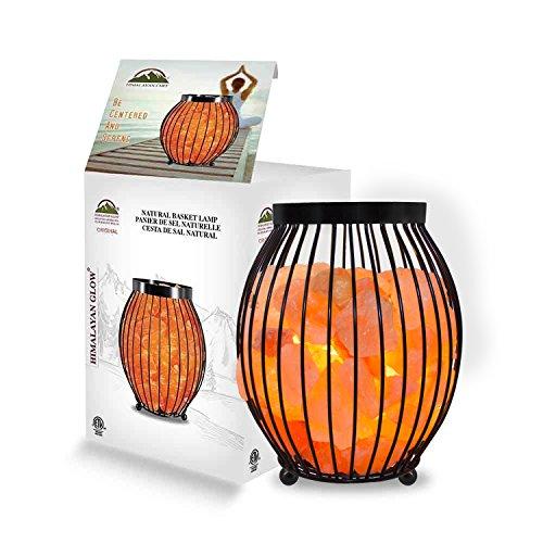 Himalayan Glow Oval Style Basket Salt Lamp, 7-9 lbs