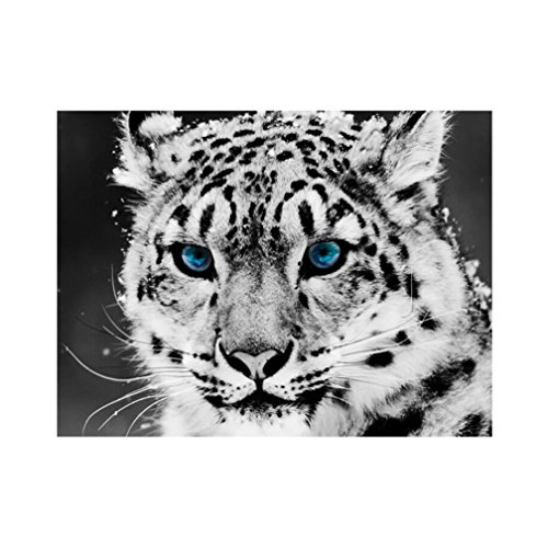 Shuohu Snow Leopard 5D Diamond Painting Crystals Embroidery DIY Paint-By-Diamond Kit - Resin Cross Stitch Kit