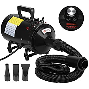 Voilamart 2800W Pet Grooming Hair Dryer Variable Speed Dog Hairdryer Blaster Fur Blower with 2 Gear Temperature and… Click on image for further info.