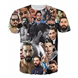 T-shirt Print Shia LaBeouf Even Stevens Holes Transformers Eagle Eye Tops Tees (M)