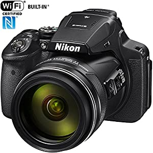 Nikon COOLPIX P900 16MP Zoom Digital Camera with 83x Optical Zoom, Built-in Wi-Fi and NFC (Black) (Certified Refurbished)