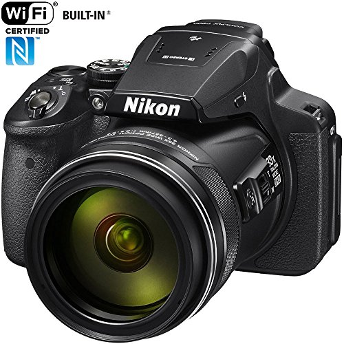 Nikon COOLPIX P900 16MP Zoom Digital Camera with 83x Optical Zoom, Built-in Wi-Fi and NFC (Black) (Renewed) (Best Coolpix Camera 2019)