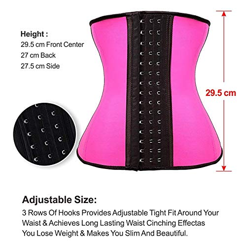 95f7a2092b YIANNA Women s Underbust Latex Sport Girdle Waist Trainer Corsets Cincher  Hourglass Body Shaper Weight Loss