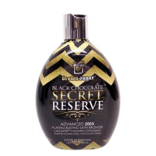 Brown Bed Lotion Tanning (Brown Sugar BLACK CHOCOLATE SECRET RESERVE Bronzer - 13.5 oz.)