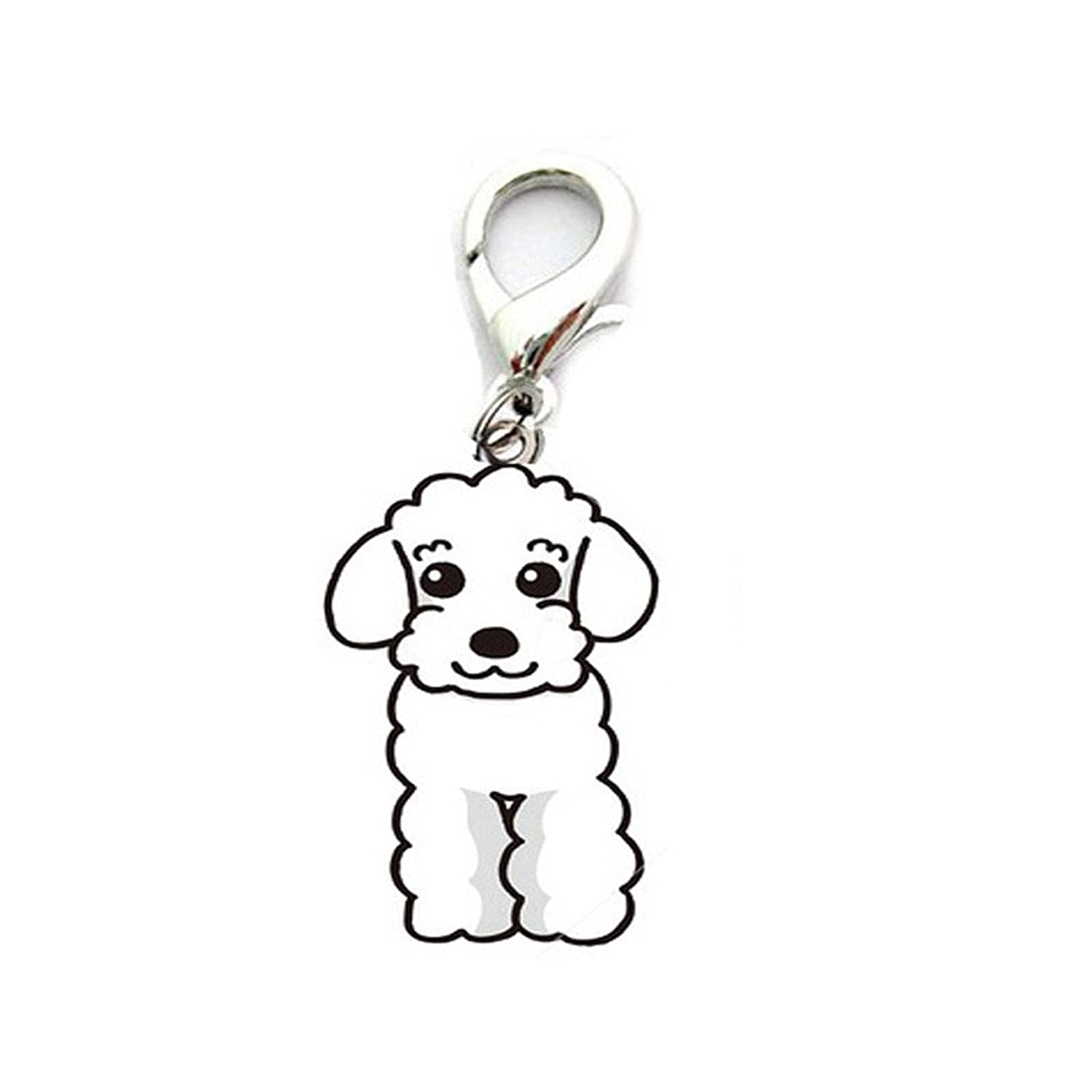 New Arrival Keychian Lovely Dog Tag Disc Disk Pet Id Accessories Collar Keychain Three Color Gift For Friend #88^Brown