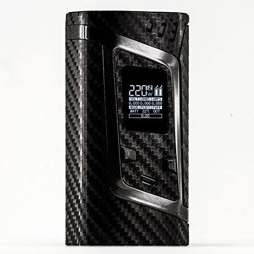 Price comparison product image PIMP MY VAPE - Carbon 4D - Custom Protective Vinyl Decal for ecig (e-cigarette) SMOK ALIEN 220W TC Cover - Best quality skin - Second life to your box mod, wrap and enjoy + BONUS STICKER