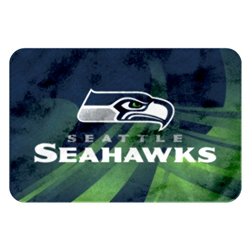 The Northwest Company Officially Licensed NFL Seattle Seahawks Raschel Rug with Non-Skid Backing, Navy, 20' x 30