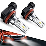 #7: H8 H11 Led Fog Light Bulb, Marsauto H16 Led Fog Lamp High Power CSP-Y11, Cool white 5500-6500K (pack of 2)