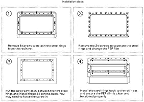 Wisamic 5 PCS SLA/LCD FEP Film - Compatible con la impresora 3D ...
