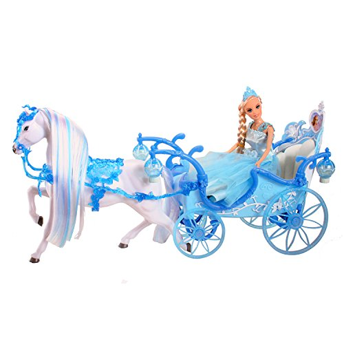 Speelgoed Magic Princess Horse and Carriage Blue