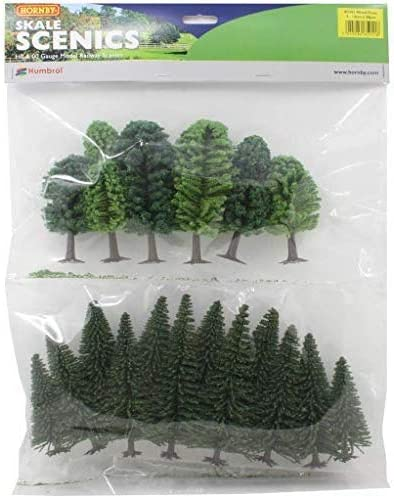 Deciduous and Fir Hornby R7201 Hobby Mixed Multi Trees Scenic Materials