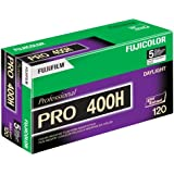 Fujifilm 16326119 Fujicolor Pro 120, 400H Color Negative Film ISO 400 - 5 Roll Pro Pack (Green/White/Purple)