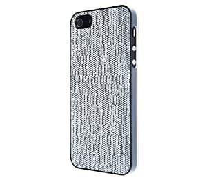 VCubed3 Glitter - Carcasa para Apple iPhone 5, color plateado