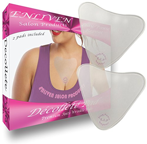 Stretch Marks Cream Wrinkle Anti - Enliven Salon Products Anti Wrinkle Chest Pads, Cream Less Skin Care At Its Finest, 2 Hypoallergenic Silicone Chest Wrinkle Pads That Rejuvenate The Decollete, and Repair Fine and Deep Chest Wrinkles