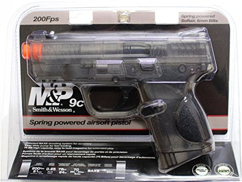 Smith & Wesson Spring Airsoft Pistol, Black ()