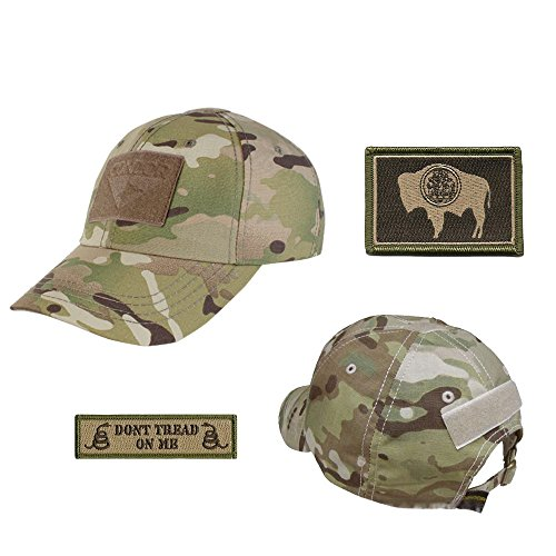 US State Operator Cap Bundle - With State & Dont Tread On Me Patches - Wyoming