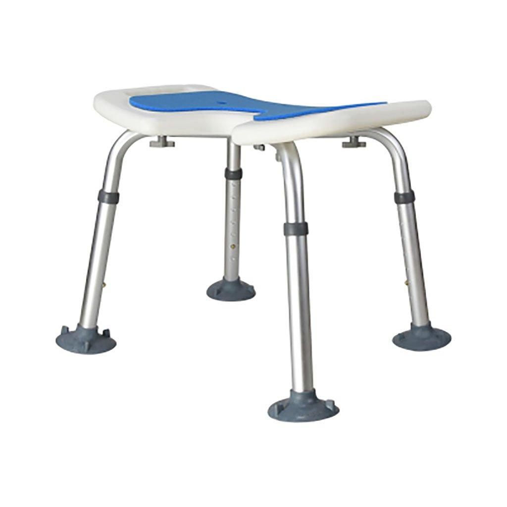 シャワースツール\シャワーチェア バスルームスツールアルミシャワーチェア障害援助ノンスリップバスチェア、高齢者、身体障害者、妊婦、高さ調節可能 バスシートベンチ\バススツール (色 : A) B07DXP28CQ  A