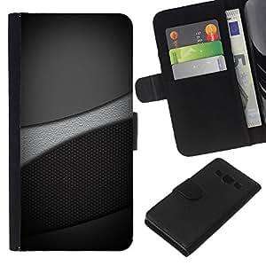 KLONGSHOP // Tirón de la caja Cartera de cuero con ranuras para tarjetas - Tonos de escala de grises - Samsung Galaxy A3 //