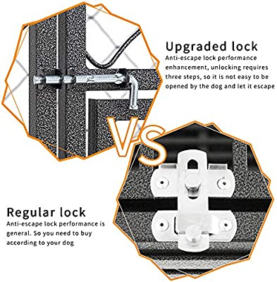 LUCKUP Heavy Duty Dog Cage Strong Metal Kennel and Crate for Large Dogs,Easy to Assemble Pet Playpen with Four Wheels …