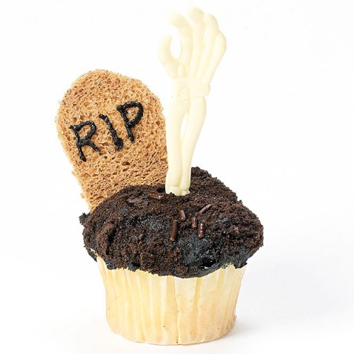 Skeleton Hand Cupcake Picks (6