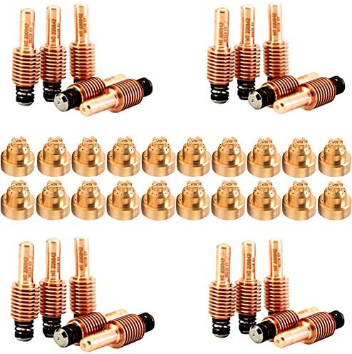 Donwind 20Pcs 220842 Plasma Electrodes /& 20Pcs 220930 Plasma Tips Fit Hypertherm Powermax 45//65//85//105