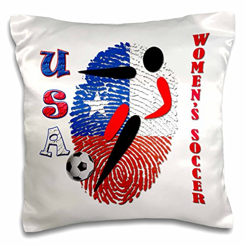 3dRose pc_218188_1 USA Women's Soccer. Popular image-Pillow Case, 16 by 16'' by 3dRose