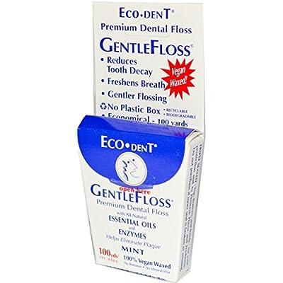 Eco-Dent Gentlefloss Premium Dental Floss, Mint, 100 yards