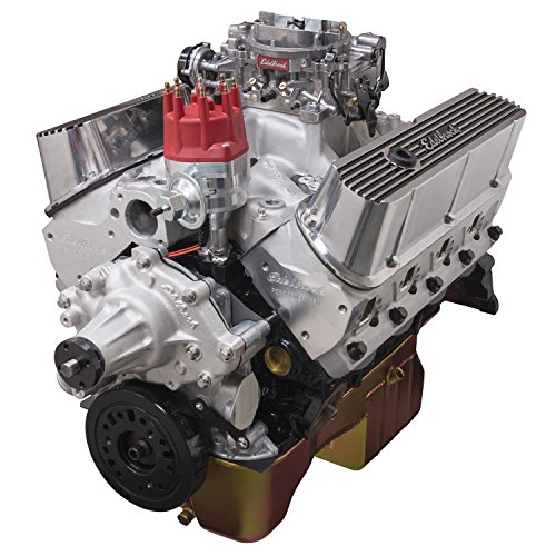 Edelbrock Crate Engines (Edelbrock 45270 Performer RPM Crate Engine Long Block Incl. RPM Air-Gap PN[75214]/Thunder 800/Pro-Billet Dist/Rear Sump Oil Pan/Cast Finish 347 Small Block 347 438HP Satin Performer RPM Crate Engine)
