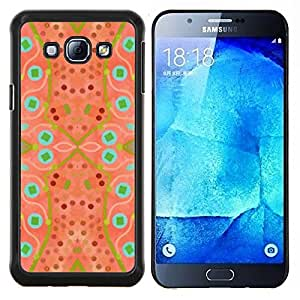 Modelo abstracto de la acuarela verde- Metal de aluminio y de plástico duro Caja del teléfono - Negro - Samsung Galaxy A8 / SM-A800