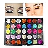 theatrical hair dye - Unpara 35 Color Eye Shadow Glitter Shine Powder Makeup Cosmetic Shimmer Matte Eyesbadow Palette