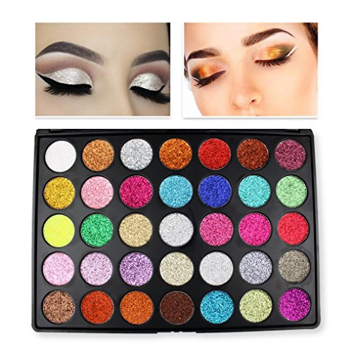 Unpara 35 Color Eye Shadow Glitter Shine Powder Makeup Cosmetic Shimmer Matte Eyesbadow (Revolution Halloween 2017)