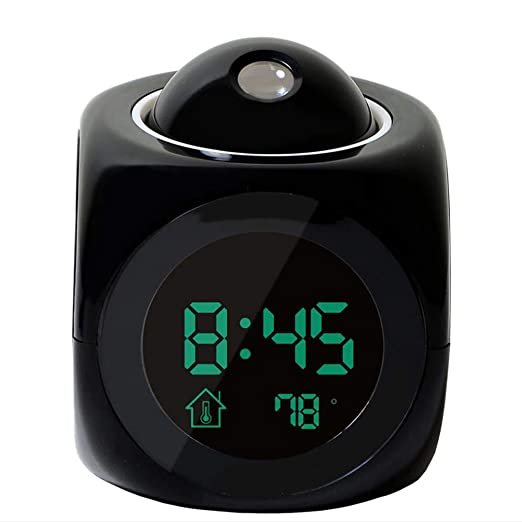 HEY Reloj LED de Proyección Nocturna Snooze Niños Reloj ...