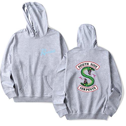 Capuche Logo Emilyle Riverdale Gris Pour Femme Sweatshirt Unisexe Pull Manches South Serpent À Homme Longues Sweat Side qwwRUtf