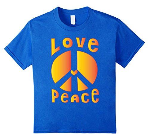 PEACE SIGN LOVE T Shirt 60s 70s Tie Dye Hippie Costume Shirt