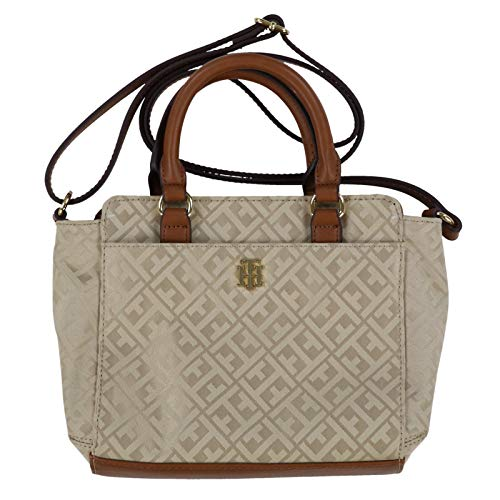 Tommy Hilfiger Womens Crossbody Shopper Purse (Beige)