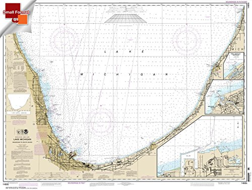 NOAA Chart 14905: Waukegan to South Haven; Michigan City 21.00 x 27.90 (SMALL FORMAT WATERPROOF) (Nautical Chart Lake Michigan)