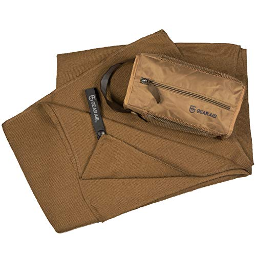 McNett Tactical Ultra-Compact Microfiber Terry Cloth Towel, Coyote, Large, 30