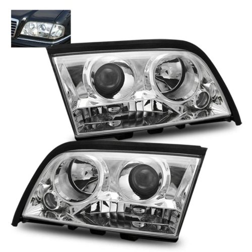 SPPC Projector Headlights Chrome For Mercedes-Benz C Class W202 - (Pair)
