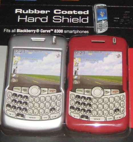 2 Pack Rubber Coated Hard Shield Blackberry Curve 8300 ()